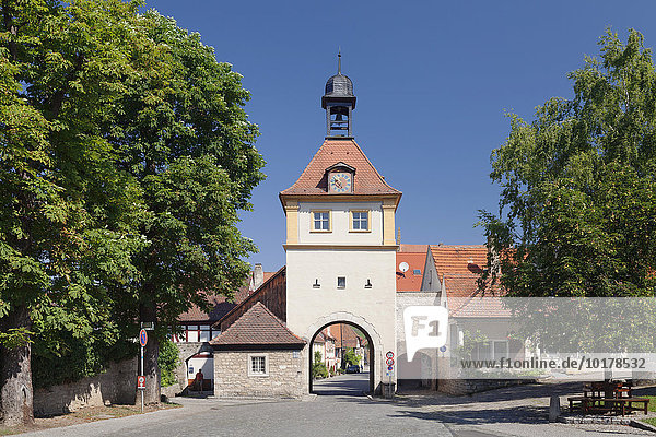 Ochsenfurter Tor  Sommerhausen  Unterfranken  Bayern  Deutschland  Europa