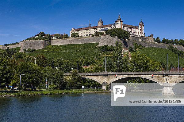 Festung Marienberg  Würzburg  Maintal  Franken  Bayern  Deutschland  Europa