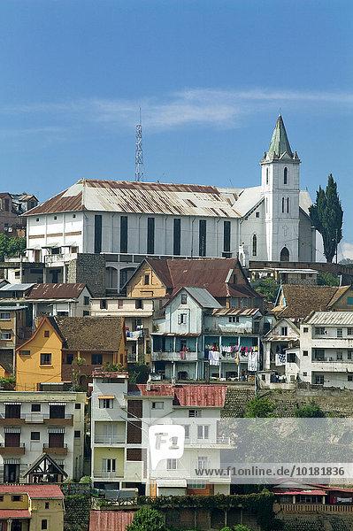 Kirche von Ambohimanoro  Provinz Antananarivo  Hauptstadt Antananarivo  Tana  Madagaskar  Afrika