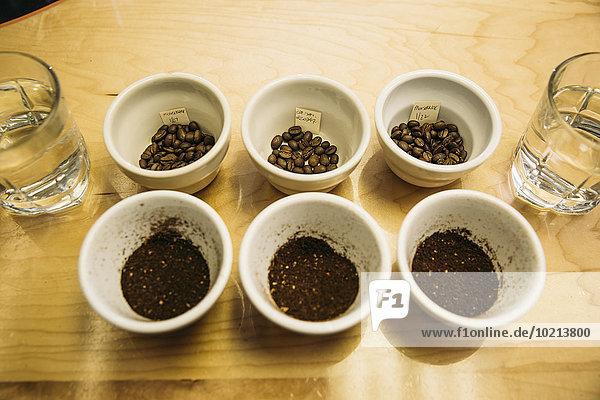 Kaffeebohne Tasse Boden Fußboden Fußböden Vielfalt Kaffee Bohne