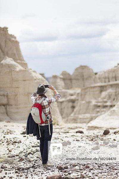 Europäer Wüste Anordnung wandern fotografieren