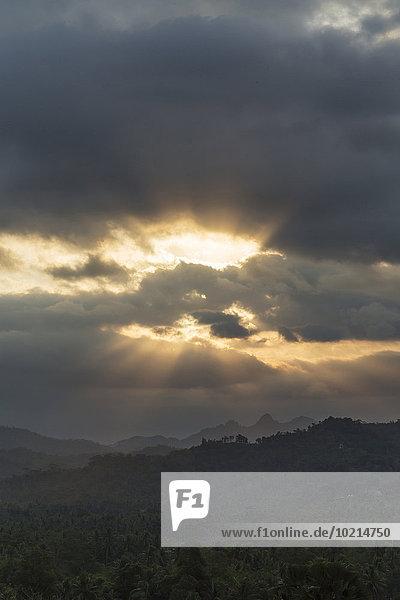 Wolke Himmel Landschaft über Borobudur Indonesien