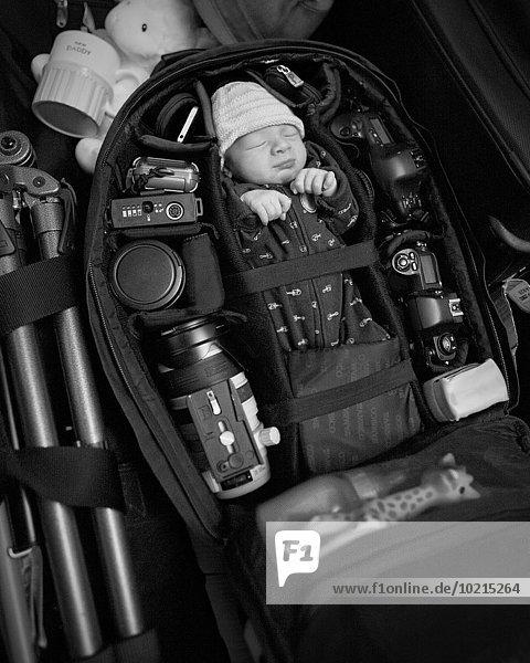 Europäer Tasche verpacken Säuglingsalter Säugling
