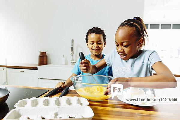 kochen Bruder Schwester Küche Frühstück