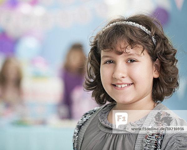 lächeln Party Close-up Geburtstag Mädchen