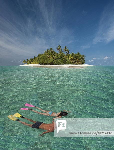 Tropisch Tropen subtropisch Europäer Insel schnorcheln