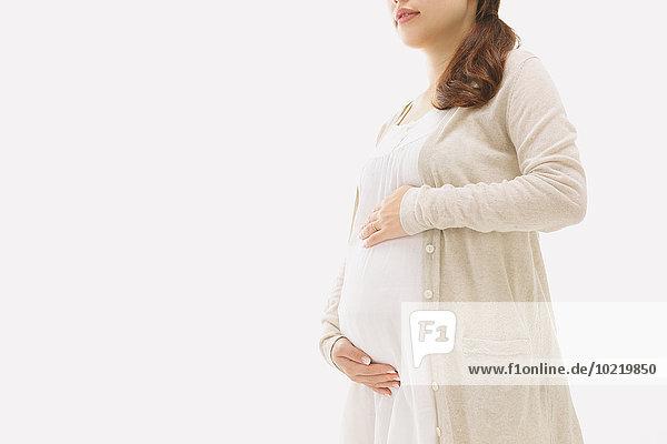 Frau Schwangerschaft jung japanisch