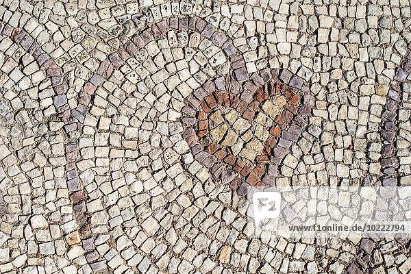 Bulgarien,  Plovdiv,  Römisches Mosaik in der Großen Basilika