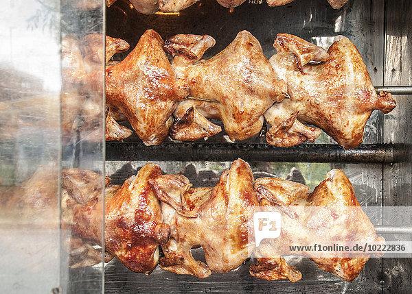 Hühnerbraten auf dem Grill