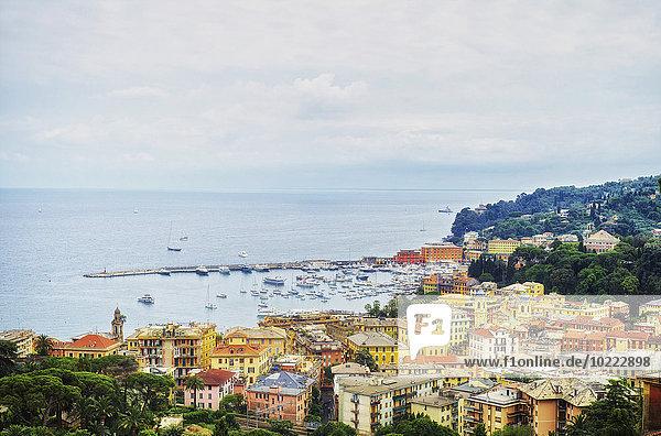 Italien  Ligurien  Blick auf Santa Margherita an einem bewölkten Tag
