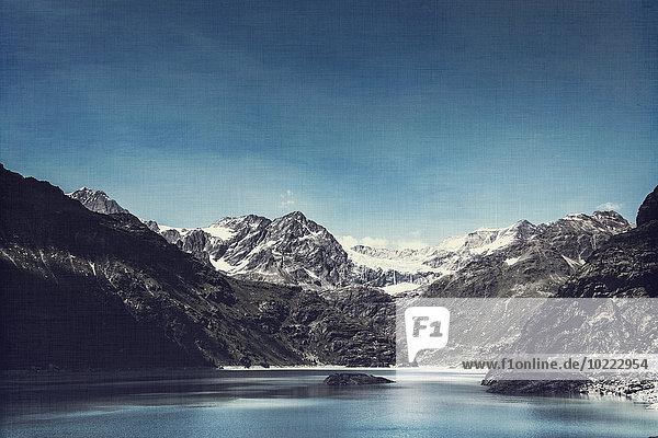 Italien  Lombardei  Blick auf den Lago di Alpe Gera