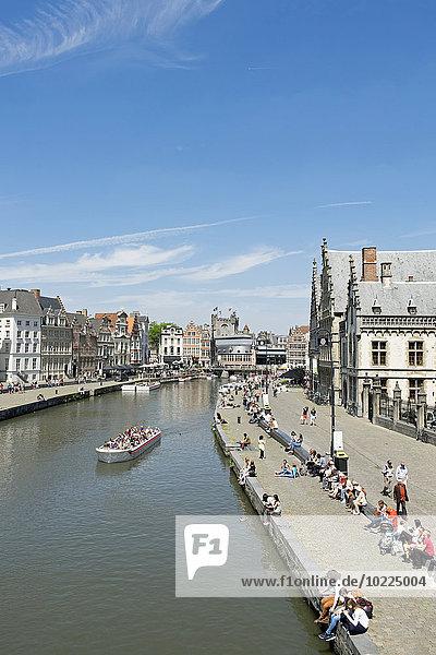Belgium  Ghent  view to Leie