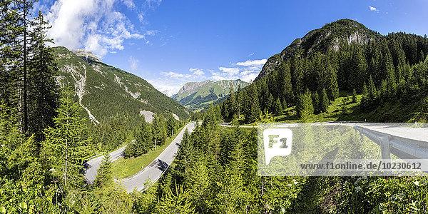 Österreich  Tirol  Bergpass zum Hahntennjoch  Panorama