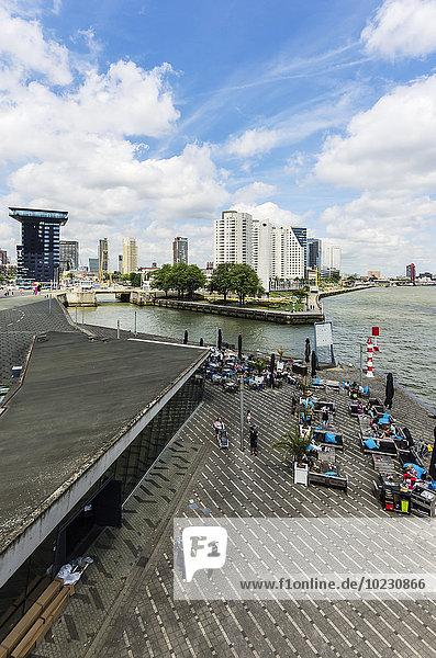 Netherlands  Rotterdam  view to Willemsplein