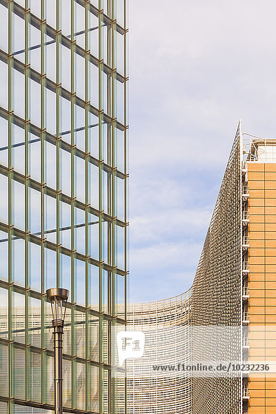 Belgien  Brüssel  Europaviertel  Charlemagne-Gebäude und Berlaymont-Gebäude  Europäische Kommission