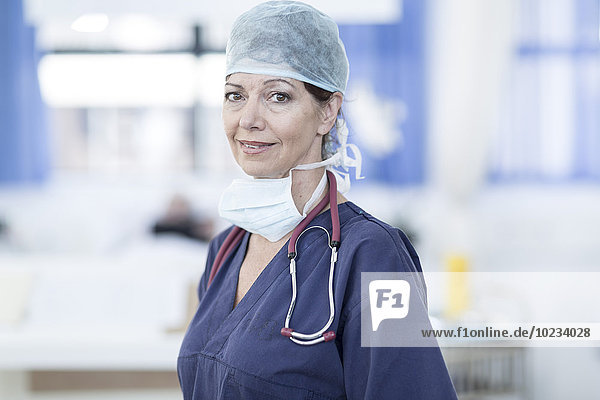 Portrait of doctor in hospital