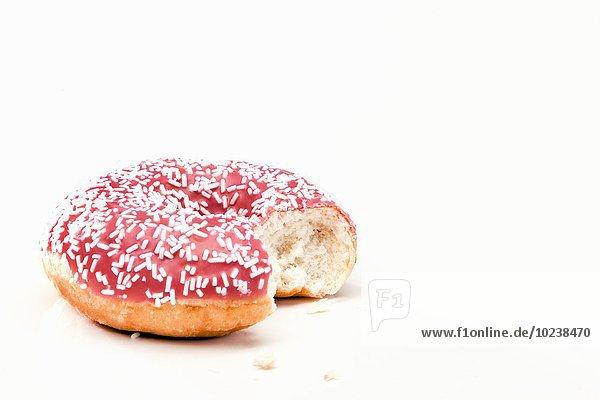 Pink Donut  angebissen