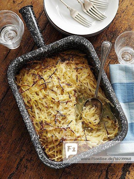 Kartoffelstroh-Gratin