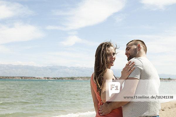 Strand flirten jung