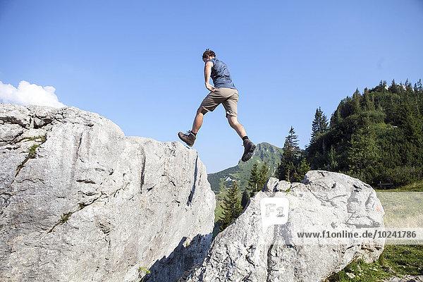 Berg Mann Landschaft wandern jung