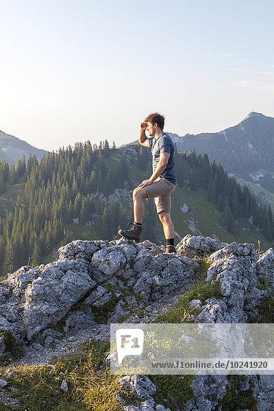 Berg Mann Landschaft Ignoranz jung
