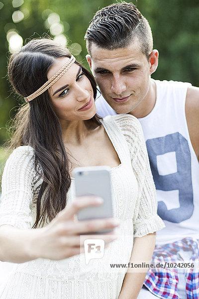 Portrait Lifestyle nehmen jung Einsamkeit Mode Hippie