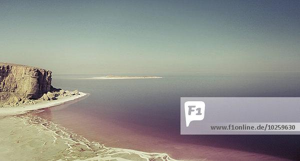 Panoramablick Urmia See gegen klaren Himmel  Iran
