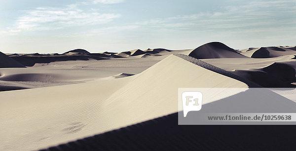 Sanddünen in der Taklimakan-Wüste  Provinz Xinjiang  China