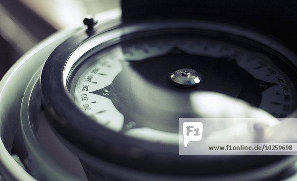 Nahaufnahme des Kompasses