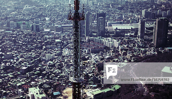 Luftaufnahme des Stadtbildes  Seoul  Südkorea