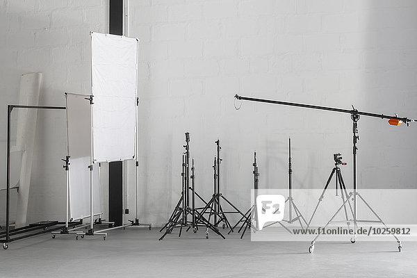 Fotoausrüstung im Fotostudio