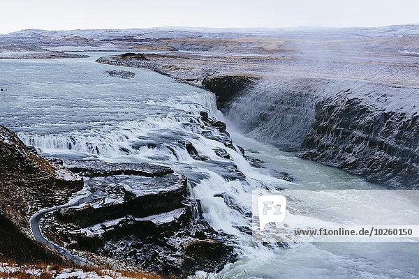 hoch,oben,Wasserfall,Ansicht,Flachwinkelansicht,Winkel