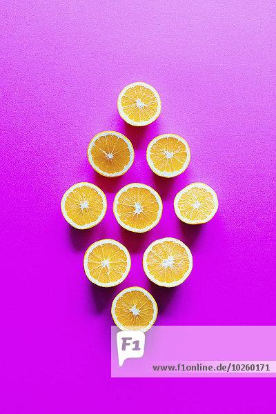 Form,Formen,über,Scheibe,Hintergrund,arrangieren,pink,schießen,gerade,Diamant,orangefarben,orange,Blechkuchen