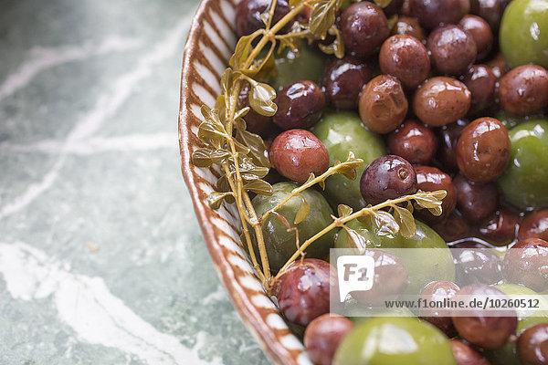 Nahaufnahme der Oliven