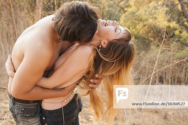 Fröhlichkeit,umarmen,Hingebung,Natur