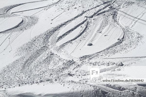 Hochwinkelansicht der verschneiten Landschaft