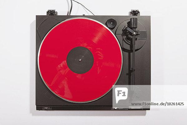 weiß,Hintergrund,rot,Schallplattenspieler,spielen