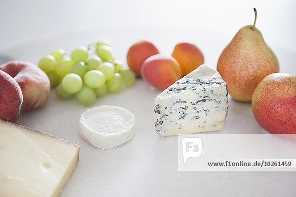 Frucht,weiß,Hintergrund,Teller,Käse
