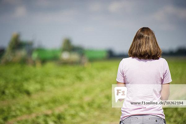 Agrarland Bauer hinaussehen Verbindung