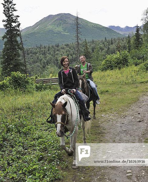 folgen Tourist entfernt reiten - Pferd mitfahren