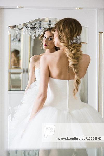 Portrait sehen Braut Spiegel