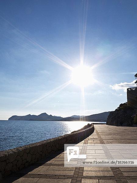 Tag Sonnenlicht Balearen Balearische Inseln Mallorca Spanien