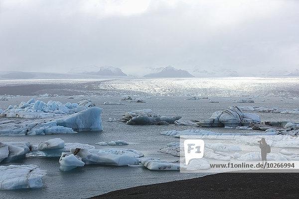 nehmen Fotograf Eisberg Fotografie Eis sprechen Jökulsárlón Island Lagune