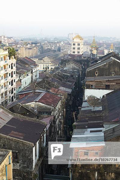 Rooftops  Yangon  Myanmar (Burma)