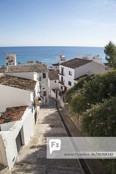 Gebäude weiß Ansicht Altea Spanien