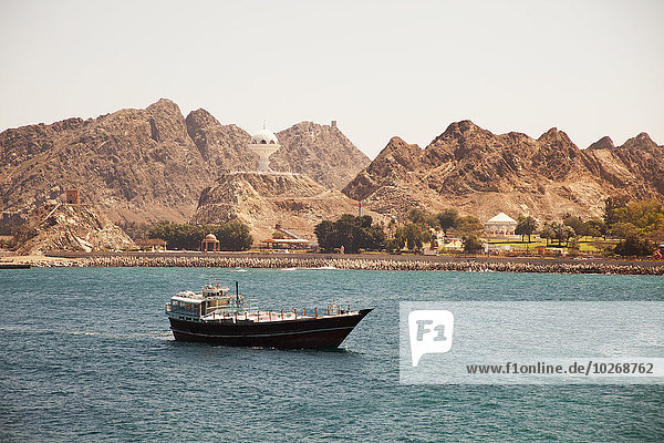 Maskat Hauptstadt Hafen ankommen Oman
