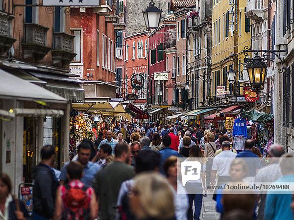 Straße Venetien bevölkert Italien Venedig