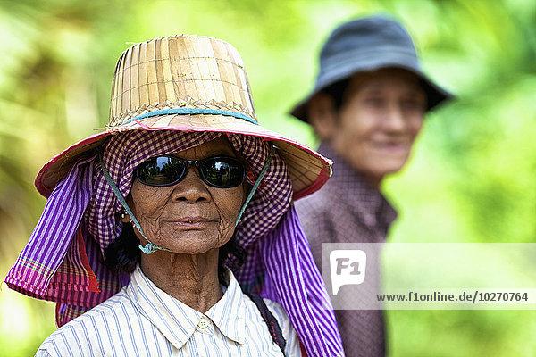 Frau Senior Senioren Kambodscha Ehemann