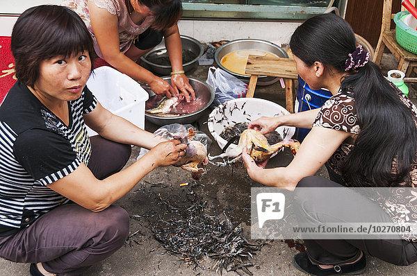 nahe kochen Reinigung Eingang klein Personalwesen Restaurant frontal Dorf 3 China