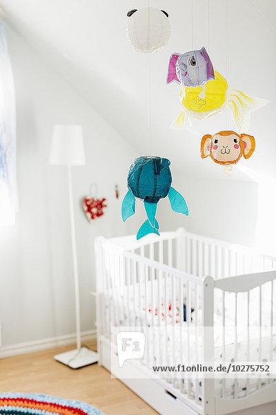 Interieur des dekorierten Babyzimmers
